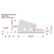 """Kirkey 99214 Floor Seat Mount- 3/16"""" Aluminum For 09,16,36-41V,47,55,65,70,71"""