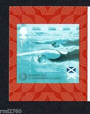2014 COMMONWEALTH GAMES - SELF ADHESIVE Swimming Single SG 3625 from Booklet