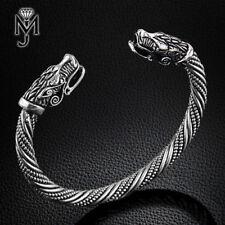 Viking Armband Wolf Fenris Armreif Wikinger Armspange Folkloreschmuck für Herren