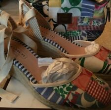 new authentic multi colored coach wedges with matching handbag
