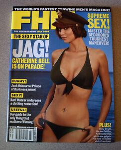 FHM JULY 2002 MAGAZINE - JAG CATHERINE BELL KARI WUHRER BONNIE-JILL LAFLIN