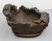 Natural polished Viewing stone suiseki-old collection water basin