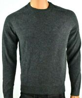 Penguin Mens Sweater New M XL Solid Gray Long Sleeves Crew Lambs Wool Pullover