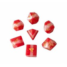 HD DICE rpg Red White Gradient  7 dice set D&D new!!!
