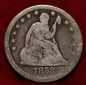 1858 Philadelphia Mint Silver Seated Liberty Quarter