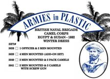 Armies in Plastic - Naval Brigade Camel Corps Winter Men & Pack Camels 54mm 5640