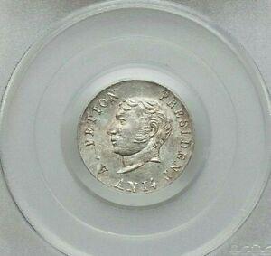 L'AN 14 (1817) HAITI JEAN-PIERRE BOYER SILVER 25 CENTIMES PCGS MS-64 KM15.1