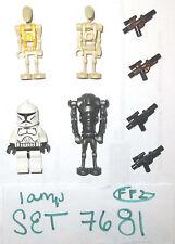LEGO Set 7681 Super Battle Droid Commander Clone Trooper Minifigure yellow 75021