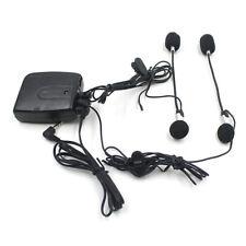 Helmet Wired Walkie Talkie Motorcycle Rear Seat Radio Headset Intercom Headphone