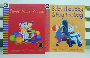 BABS THE BABY AND FOG THE DOG KIDS BOOKS X2 NEW! MARGARET WILD  DONNA RAWLINS