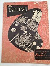 Retro Vintage Tatting Pattern Book Doilies Cloths Edges Hankies Semco Australia