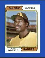 1974 Topps Dave Winfield ROOKIE Baseball Card #456 -  San Diego Padres HOF