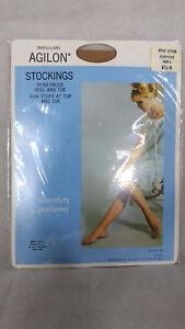 RHT nylon Vintage Agilon Irregulars stockings suntone size 8.5 - 9 original New