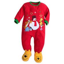 0405adbc2494 Disney Sz 0 - 3 Mths Winnie The Pooh Snowman Footed Blanket Sleeper Pajamas