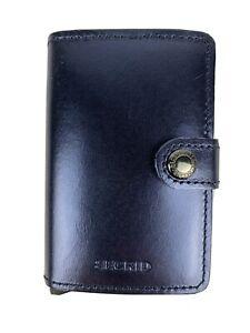 SECRID Miniwallet Metallic Blue Leather Wallet RFID Blocking Gift Christmas