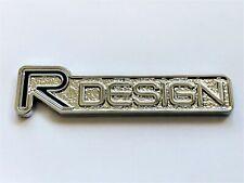 2x For Volvo R design Metal Chrome Badge Emblem Logo Sticker S40 S80 S60 V60