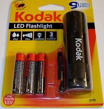Kodak 9 LED Flashlight IP62, 25m Range, 64 Lumens, AAA Batteries Included
