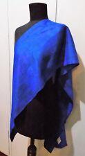 Hand Dyed Silkz Byron Bay Mottled Lilac & Blue Silk Scarf- 32cm X 190cm