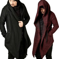 Men Casual Sweater Long Sleeve Knitted Cardigan Trench Coat Jacket Overcoat