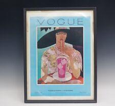 VOGUE COVER AUGUST 1926 FRAMED ART NOUVEAU PRINT VINTAGE 1970