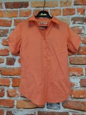 Ladies Tommy Hilfiger orange top UK 6 half buttoned collared sports casual