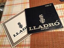 LLadro Figurine 1980-81 Export Catalog Set Both In Good Condition Spain (2)