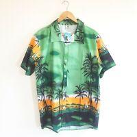 NWT Tailor Pal Love Mens XXXL Hawaiian Green Short Sleeve Quick Dry Shirt