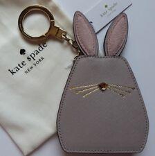 KATE SPADE Hop à elle Bunny rabit Porte-clés/Porte-Clés/Sac Charme En Cuir Rose