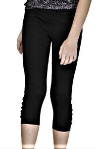 Champion C9 Girls Laser Cut Premium Black Duo Dry Stretch Capri Leggings