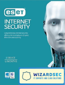 ESET Internet Security 3 Device 1 Year DIGITAL Secured Delivery
