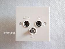 TV/FM/SAT SOCKET OUTLET STANDARD WHITE TRIPLEX UNIT DETA D1340