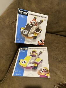 Knex Mario Kart Shy Guy and Wario Nintendo 2 Set Bundle! New in Sealed Packaging