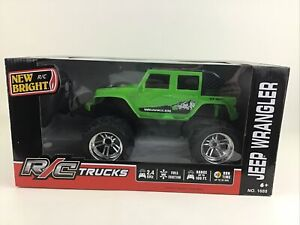 New Bright R/C Truck Jeep Wrangler Green 2.4GHZ Remote Control Monster Tires New