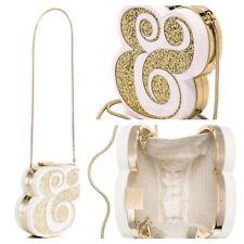 NWT Kate Spade Metallic Wedding Belles Ampersand Clutch Handbag Bag NEW