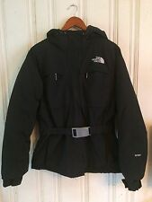 Women's  The North Face Hyvent Black Down Belted Jacket Coat Size L Large