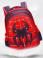 Spiderman Red Tuba Children Backpack Kids Waterproof School bag