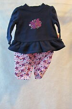 GIRL'S  FISHER PRICE  BUTTERFLY SWEATSUIT  SIZE 0 - 3 MONTHS