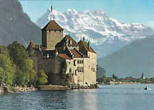 Chillon Castle near Montreux Switzerland Postcard Unused VGC