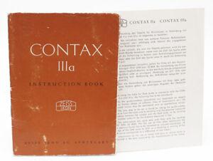 Genuine Original Zeiss Contax IIIa Instruction Manual + Flash Sync Table English