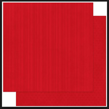 BoBunny 12x12 papel scrapbooking Doble Dot, Wild Berry Rayas X 2 Hojas