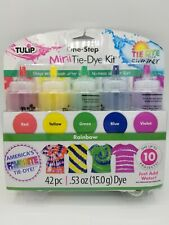 Tulip One Step Mini Tie Dye Kit 42pc 5 Colors w/ Gloves, Bands & Instructions