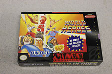 WORLD HEROES  * Super Nintendo Box only * ORIGINAL GAME BOX *