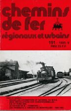 CHEMINS de FER RÉGIONAUX et URBAINS - N° 191 (1985 - 5) (FACS - CFRU) (Train)