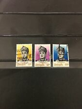 (JC) Installation of Yang Di-Pertuan Agong 1976 - Complete 3v used stamp