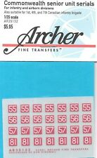 Archer Transfers Commonwealth Canada Infantry Airborne Decals AR35132