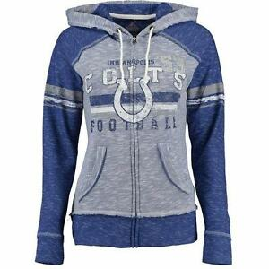NWT INDIANAPOLIS COLTS WOMENS XXL TAME THE TIDE FULL ZIP HOODIE SWEATSHIRT
