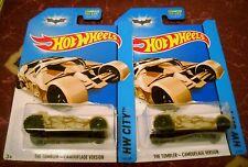 2014 Hot Wheels #43 HWCITY ∞ THE TUMBLER-CAMOUFLAGE VERSION ∞ LOT OF 2 BATMOBILE