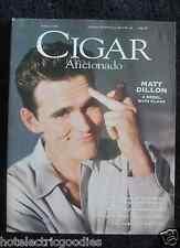 Cigar Aficionado Magazine Spring 1996 Matt Dillon VG Smoking Vintage