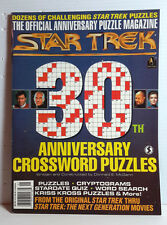 1996 Star Trek 30th Anniversary Crossword Puzzle Magazine- UNMARKED- FREE S&H