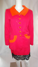 YVES SAINT LAURENT RIVE GAUCHE VTG MOD Pink Skirt Lace Trim Suit Size 40